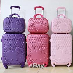 20222428 Hello Kitty Suitcase Set Children Women Luggage Travel Bag Trolley