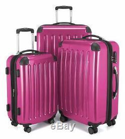 3 Maletas De Viaje Grandes Con Ruedas Set Equipaje Para La Familia Rosado PINK