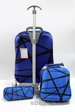 3 PCS Spiderman Cartoon Trolley Suitcase Set Children School Bag Christmas Gift