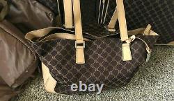 3+ Pc Set VTG Brown RALPH LAUREN Monogram LUGGAGE SET Suitcase Tote Garmet BAGS