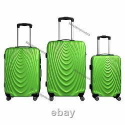 3 Piece Lightweight Suitcase Hardside Spinner Luggage Set 20'' 24'' 28'' Green