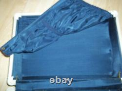 3 Piece VINTAGE SAMSONITE SUITCASE LUGGAGE SET MARBLE BLUE