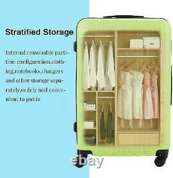3PCS 20 24 28 Luggage Travel Set Bag ABS Trolley Suitcase Spinner Hardshell