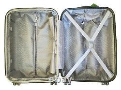 3Pc Luggage Set Hardside Rolling 4Wheel Spinner CarryOn Travel Case Purple