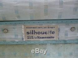 3Pc Vintage Samsonite Silhouette Luggage Set Blue