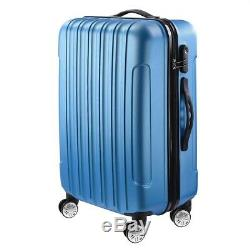 3Pcs 20/24/28 Luggage Travel Set Bag Wheels Trolley Business Suitcase with Lock