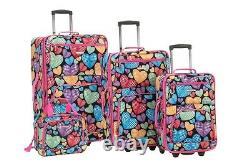 4 Piece Luggage Set Polyester New Heart New
