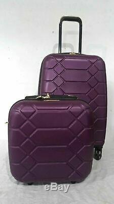 $400 Aimee Kestenberg Diamond 2-PC Carry-On Luggage Set Under seat Bag