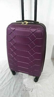 $400 Aimee Kestenberg Diamond 2-PC Carry-On Luggage Set & Under seat Bag Purple