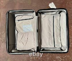 $425 NEW CALPAK Chipp Cream 3 Piece Luggage Set Hardside Spinner Dot Print
