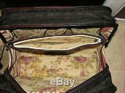 5 piece Brighton Black/Brown Luggage Set VGC