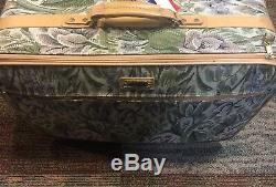 6 Pcs Vintage American Tourister Floral Tapestry Luggage Complete Set Awesome