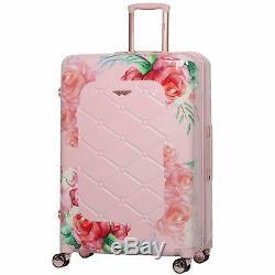 Aerolite 55cm Hard Shell 4 Wheel Travel Hold Luggage Cabin Bag Cases Rose Blush