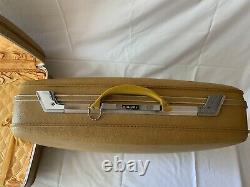 Airway Vintage Three Piece Set Luggage Hardcase Suitcase Yellow