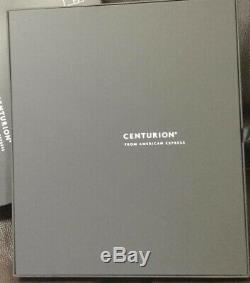 American Express Centurion Card Members Only Luggage ID Tag Set of 2 In Box