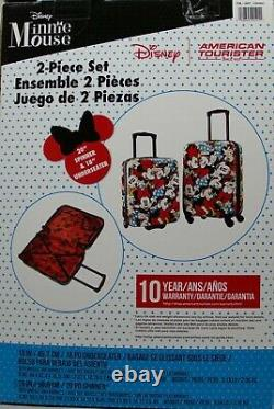 American Tourister Disney 2-piece Minnie Mouse Hardside Carry-On Luggage Set