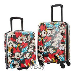 American Tourister Disney Carry On Luggage 2-piece Set, Minnie Mouse (2042)