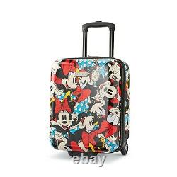 American Tourister Disney Hardside Roll Aboard 2 Piece Luggage Set. Minnie Mouse