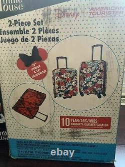 American Tourister Disney Roll Aboard 2 Piece Luggage Set Minnie Mouse