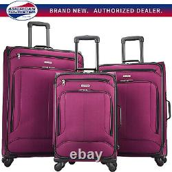 American Tourister Pop Max 3 Piece Luggage Spinner Set 29/25/21(Berry)