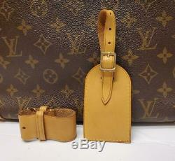Auth LOUIS VUITTON Large Leather Luggage ID Tag Name Tag and Poignet Set 133