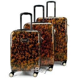 BADGLEY MISCHKA Essence 3 Piece Hard Spinner Luggage Set (Tortoise)