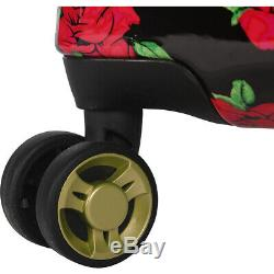 BETSEY JOHNSON Covered Roses 3 Piece Hardside Spinner Luggage Set NEW