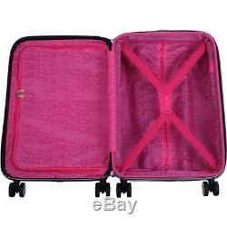 BETSEY JOHNSON Flamingo Strut 3 Piece Hardside Spinner Luggage Set NEW