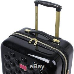 BETSEY JOHNSON Heart To Heart 3 Piece Expandable Luggage Set NEW