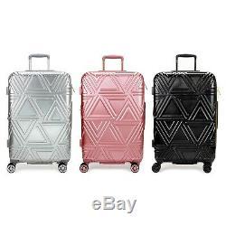 Badgley Mischka Contour Spinner Luggage Set (2-Piece) Black / Rose Gold / Silver