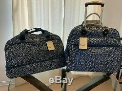 Baggallini Rolling Blue Prism Set Travel Carry-On Duffle Bag Wheeled Luggage