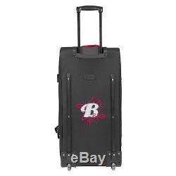 BoGi Bag Reisetaschen Trolley 2er Set Koffer Rollen 85 L + 110 L Rot / Schwarz