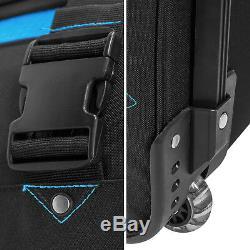 BoGi Bag Trolley Reisetaschen Koffer Set 2 TeileRollen 85 L+ 110 L Blau/Schwarz