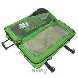 Bogi Bag Koffer Reisetaschen Set 2-tlg XXL Trolley + Washbag Grün Schwarz