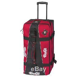 Bogi Bag Set Reisetasche 110 L Trolley Waschtasche Kosmetiktasche Rot Schwarz