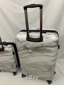 CalPak Astyll Milk Marble 2 Piece Luggage Set, White