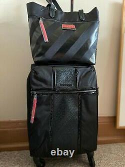 DKNY Black Cabin Suitcase & Handbag Set Designer Travel In Style Lightweight NEW