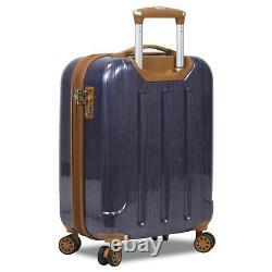 Dejuno Monroe 3-Piece Hardside Spinner TSA Combination Lock Luggage Set Blue