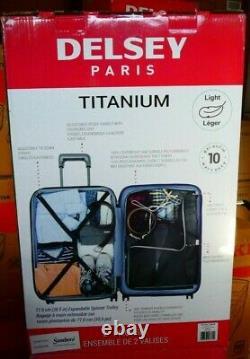Delsey Paris Titanium 2 Piece Light Expandable Hardside Luggage Set 31 & 21