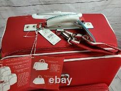 Diane von Furstenberg Limited Edition Solid Hearts 3 Pcs Expandable Luggage Set