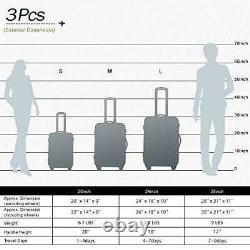 Flieks Luggage Set 3 Piece with TSA Lock -Blue