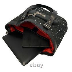 Geoffrey Beene Designer Fashion 5-Piece Polka Dot Spinner Luggage Set