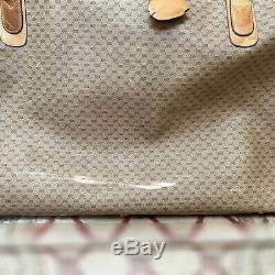 Gucci Vintage Monogram Luggage Travel Suitcases 3pc Set