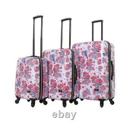 Halina Car Pintos 3 Piece Hardside Spinner Luggage Set Red White Blue