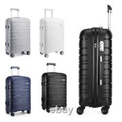 Hard Shell PP Suitcase Trolley Travel Case TSA Lock Hand Cabin Luggage Set
