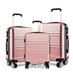 Hardshell Cabin Suitcase Spinner Travel Luggage Trolley Case Lightweight Nude