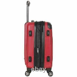 Hardside Luggage 3-Piece Set (20/24/28) Kenneth Cole Reaction Suitcase Red