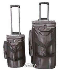 Harley-Davidson Tough Terrain Honeycomb Hex Wheeled Travel Duffel Bag Black