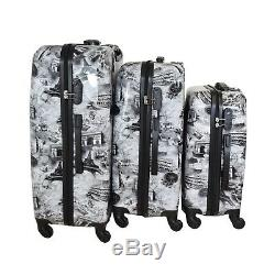 Hartschalen Koffer Set 3tlg für Urlaub, TSA Zahlenschloss koffer 3tlg MIX SET