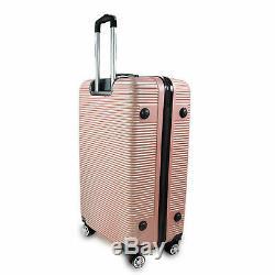 Hartschalen Koffer Set 3tlg für Urlaub, Zahlenschloss 3tlg Pin Rosa SET